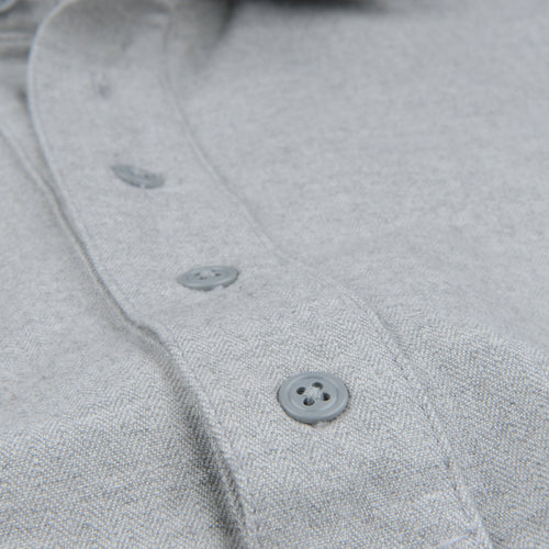 Herringbone Popover Shirt in YD Grey