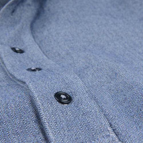 Herringbone Popover Shirt in YD Navy