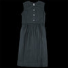 wrk-shp - Sleeveless Button Dress in Black