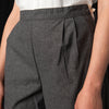 wrk-shp - Twill Carrot Pant in Smoke Grey