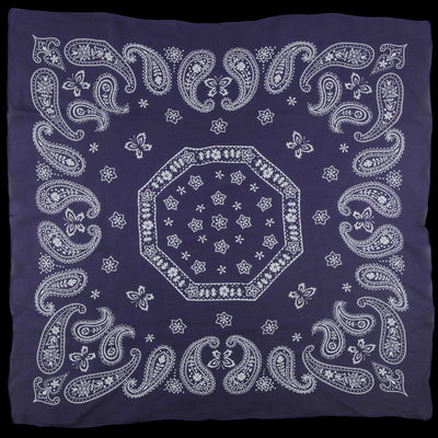 Needles - Silk Crepe Paisley Scarf in Purple