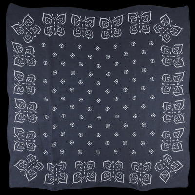 Needles - Silk Crepe Papillon Scarf in Charcoal