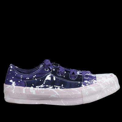 Needles - Asymmetric Ghillie Sneaker in Purple with White Paint