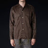 Needles - Sateen Cut-Off Bottom Classic Shirt in Dark Brown
