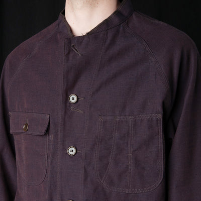 Needles - Aizu-Tsumugi Chore Coat in Maroon