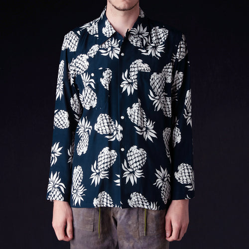 Needles - Rayon Sateen Pineapple One-Up Cowboy Shirt