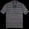 Needles - Splashed Polo Sweater in Purple & Navy