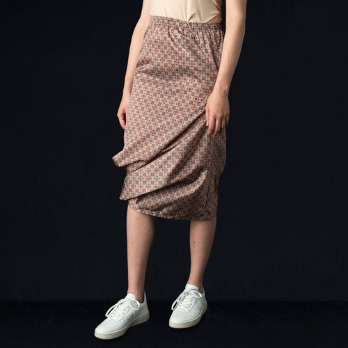Nylon Taffeta Conti Skirt in Smoke Pink