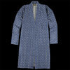 Needles - Fine Pattern Poly Jacquard Kimono Coat in Navy
