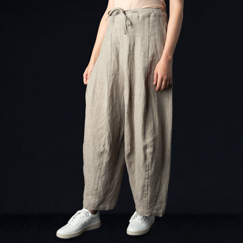 Linen Darts Military Pant in Stripe