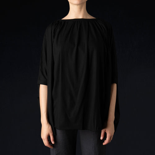 Oversized S/S Tunic in Black