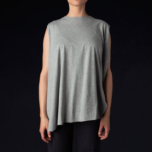 No Sleeve Asymmetric Top in Grey