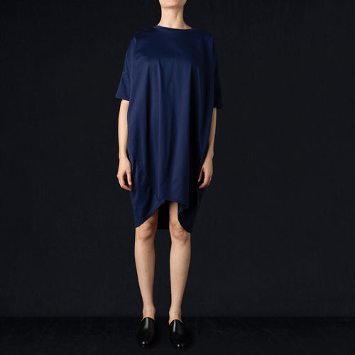 Drop Shoulder Dress in Blue