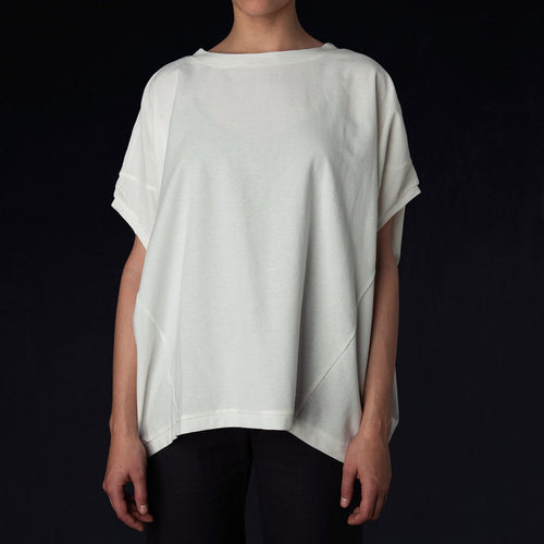 Drop Shoulder Tee in Off White