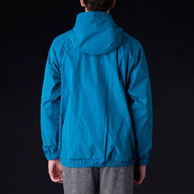 ts(s) - Water Repellent Raglan Sleeve Zip Front Parka in Blue