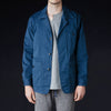 ts(s) - Garment Dye Textile Print Bird Watching Jacket in Blue