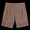 ts(s) - Cordlane 2 In-Pleat Wide Short in Brown