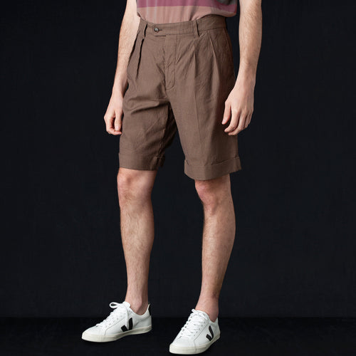Cordlane 2 In-Pleat Wide Short in Brown