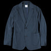 ts(s) - Cotton Silk Micro Faille Two Button Patch Pocket Piping Jacket in Navy