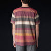 ts(s) - Multicolor Irregular Stripe Big Tee in Wine