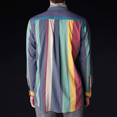 ts(s) - Multicolor Irregular Stripe B.D. Shirt in Navy