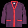 ts(s) - Terry Color Block Loose Fit Cardigan in Purple & Red