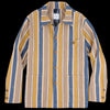 ts(s) - Multi Stripe Cotton Nylon Cover All Jacket in Brown