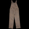 ts(s) - Garment Dye Textile Print Old Style Bib Overall in Brown