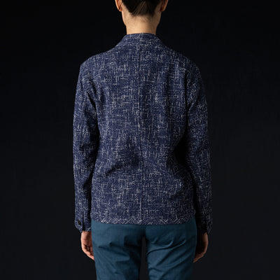 ts(s) - Summer Tweed Cardigan Jacket in Navy