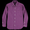 ts(s) - Garment Dye Brushed Cotton Twill B.D. Shirt in Purple