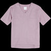 ts(s) - Double Yarn Oxford Short Sleeve V-Neck Pullover Shirt in Wine