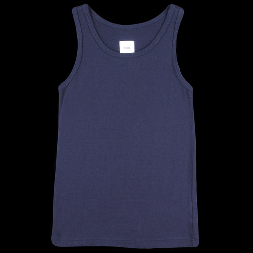 Vintage Style Jersey Tank Top in Navy