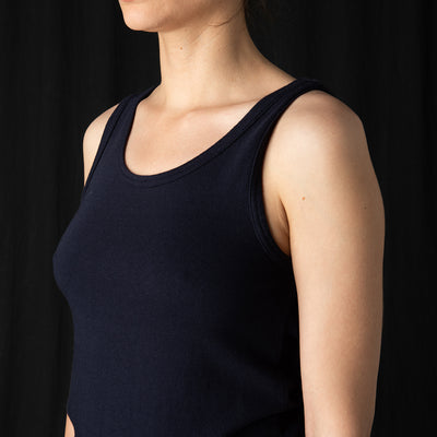 ts(s) - Vintage Style Jersey Tank Top in Navy