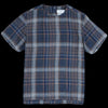Schnayderman's - T-Shirt Linen Indigo Check in Blue & Brown