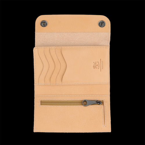 Piccolino Snap Wallet in Naturale
