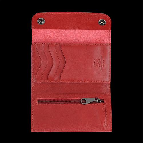 Piccolino Snap Wallet in Rosso