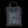 Il Bisonte - Flat Tote Bag in Black Technical Canvas