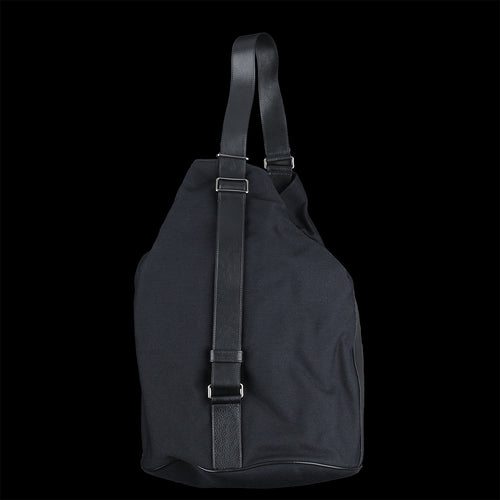 Drop Large Shoulder Bag in Nero Technical Canvas