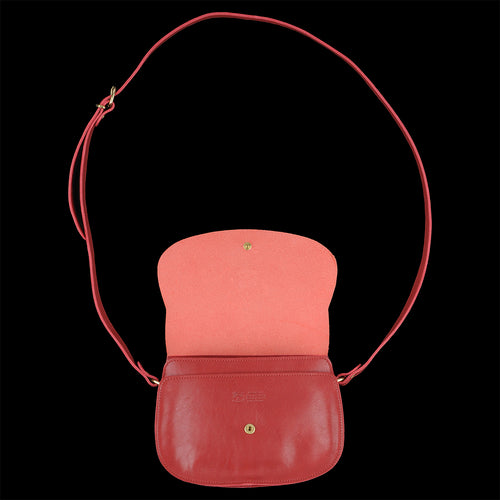 Classic Saddle Crossbody Bag in Rosso