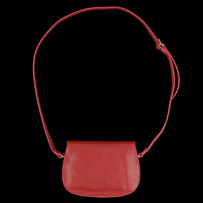 Il Bisonte - Classic Saddle Crossbody Bag in Rosso