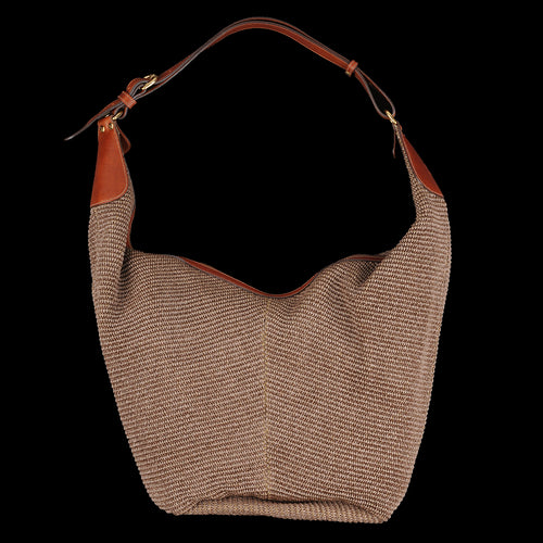 Flow Large Hobo Bag in Marrone Multi Fabric