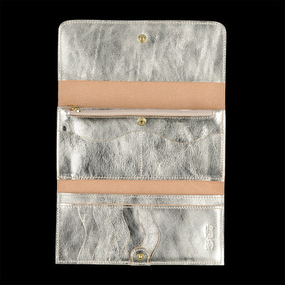 Il Bisonte - Classic Continental Wallet in Platino