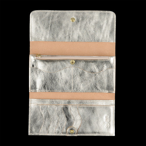 Classic Continental Wallet in Platino