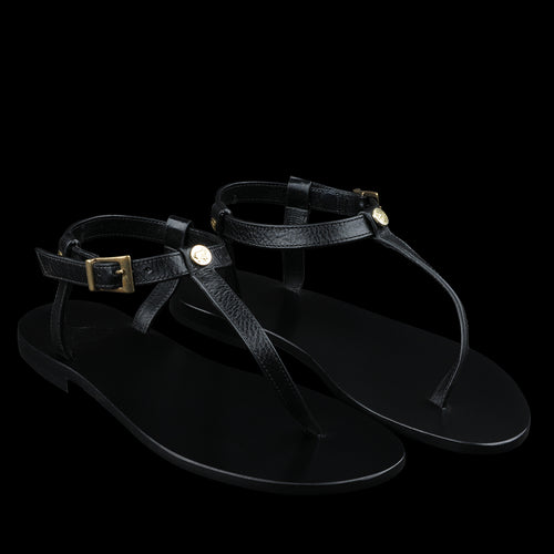 Versilia Thong Sandal in Nero