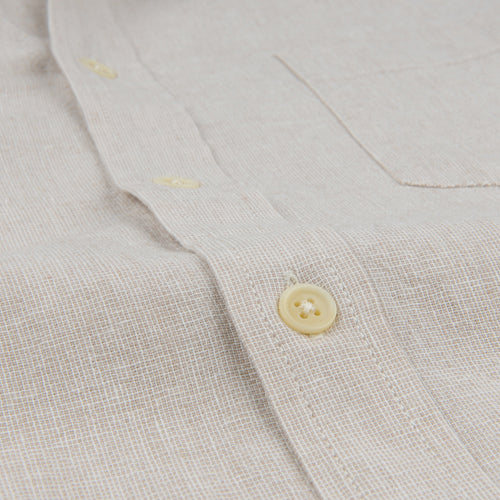 Basketweave LS Shirt in Natural