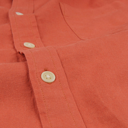 Linen LS Shirt in Clay