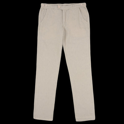 Corridor - Stripe Linen Trouser in Natural