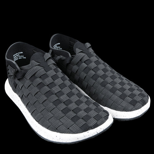 Latigo 2 Handwoven Huarache in Black & White