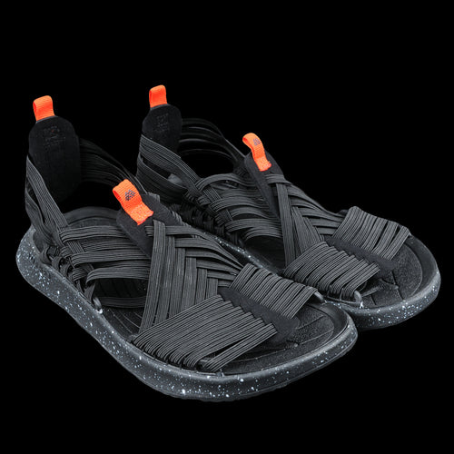 Rancho Light-Weight Trekking Sandal in Black & Orange