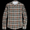 Officine Generale - Japanese Check Button Down in Olive